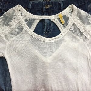 [Free People] Lace Tee